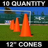 """Net World Sports 12"""" Marker Cones (10qty) Available"""