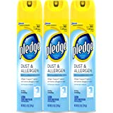 Pledge Dust and Allergen Furniture Spray, 9.7 Ounce (Pack of 3)