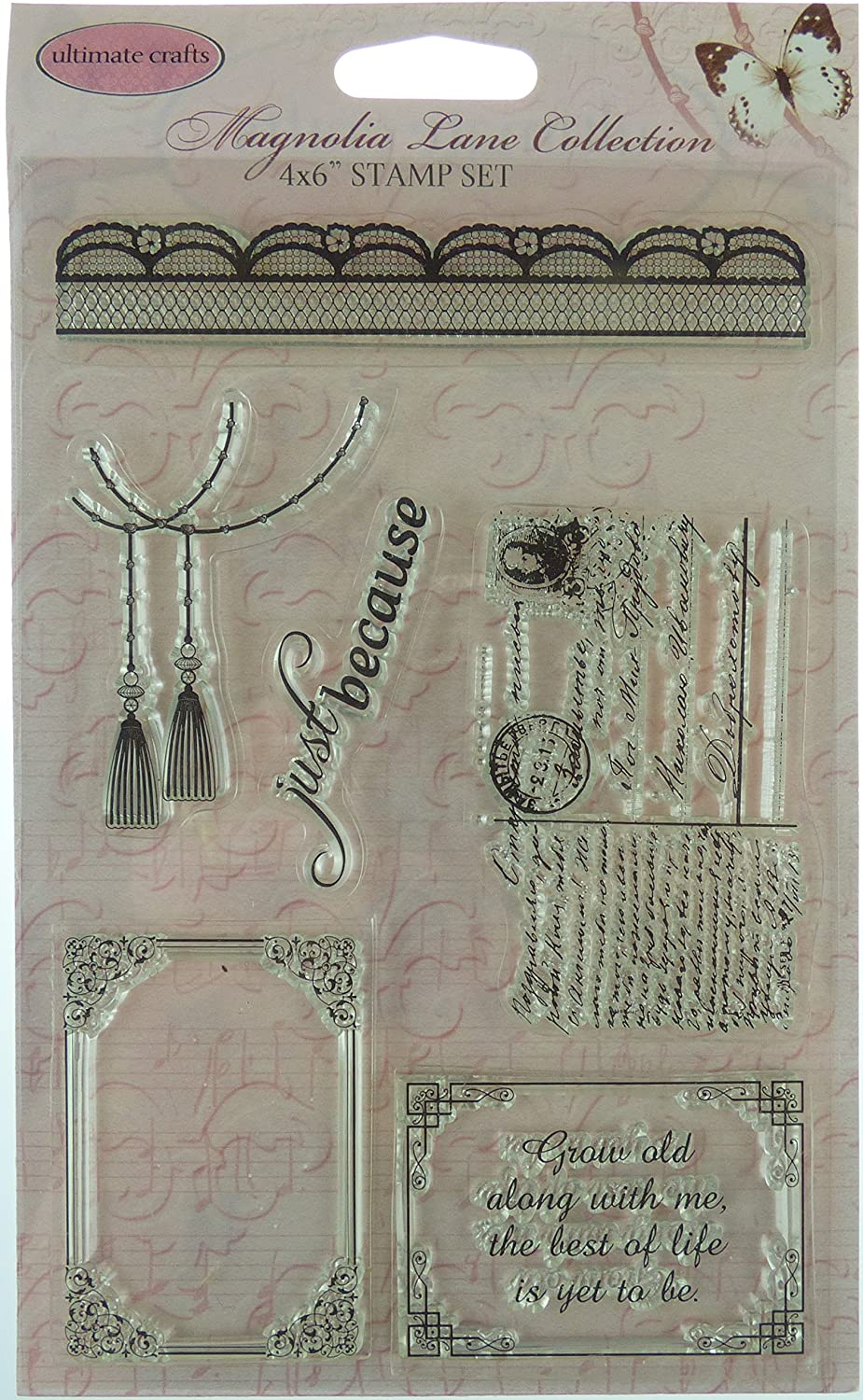 4x6 Ultimate Crafts Songbird Clear Stamp Set