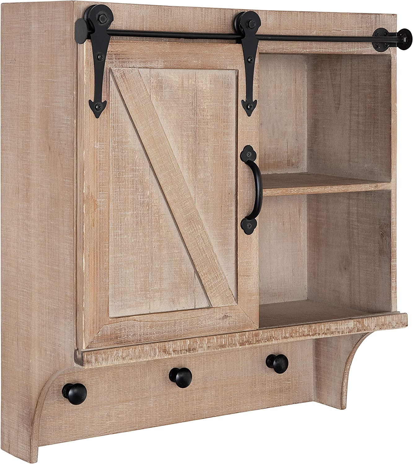 Kate and Laurel Cates Decorative Farmhouse Cabinet Wall