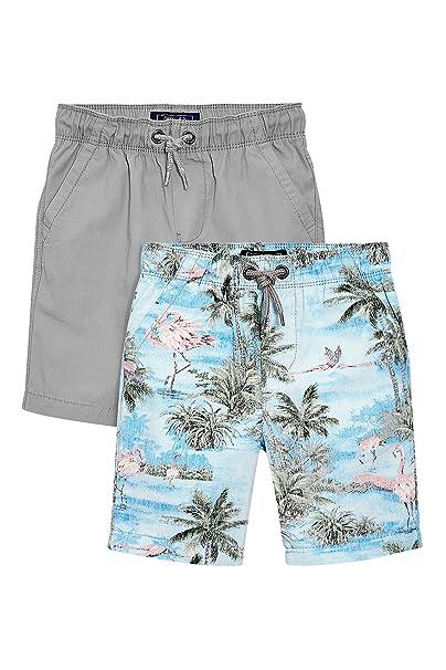 next Niños Pack De Dos Pantalones Cortos Estampado Flamenco Gris (3-16  Años) Corte Estándar 16 años  Amazon.es  Ropa y accesorios b7e70010bc5
