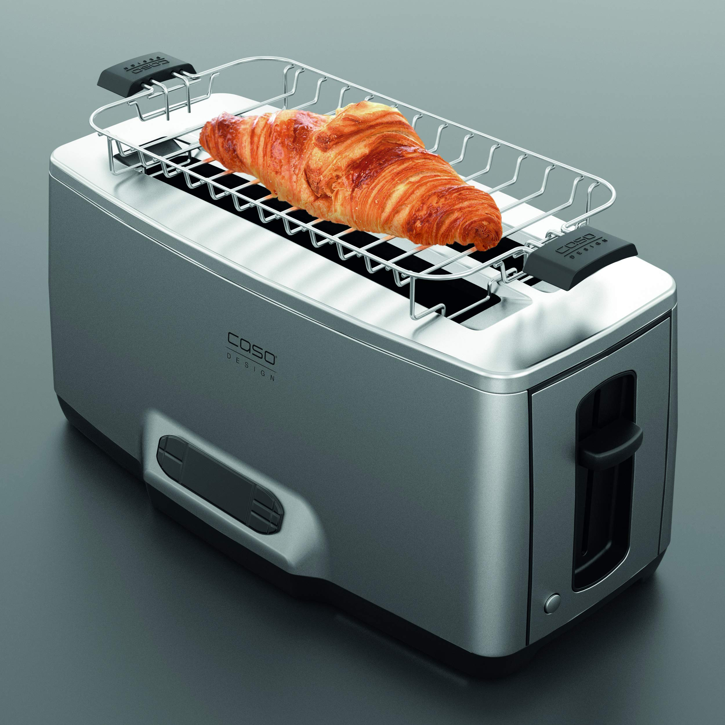 Caso Design INOX.4 Four-Slice Toaster with Wire Warming Basket Attachment, 4, Stainless by Caso Design (Image #2)