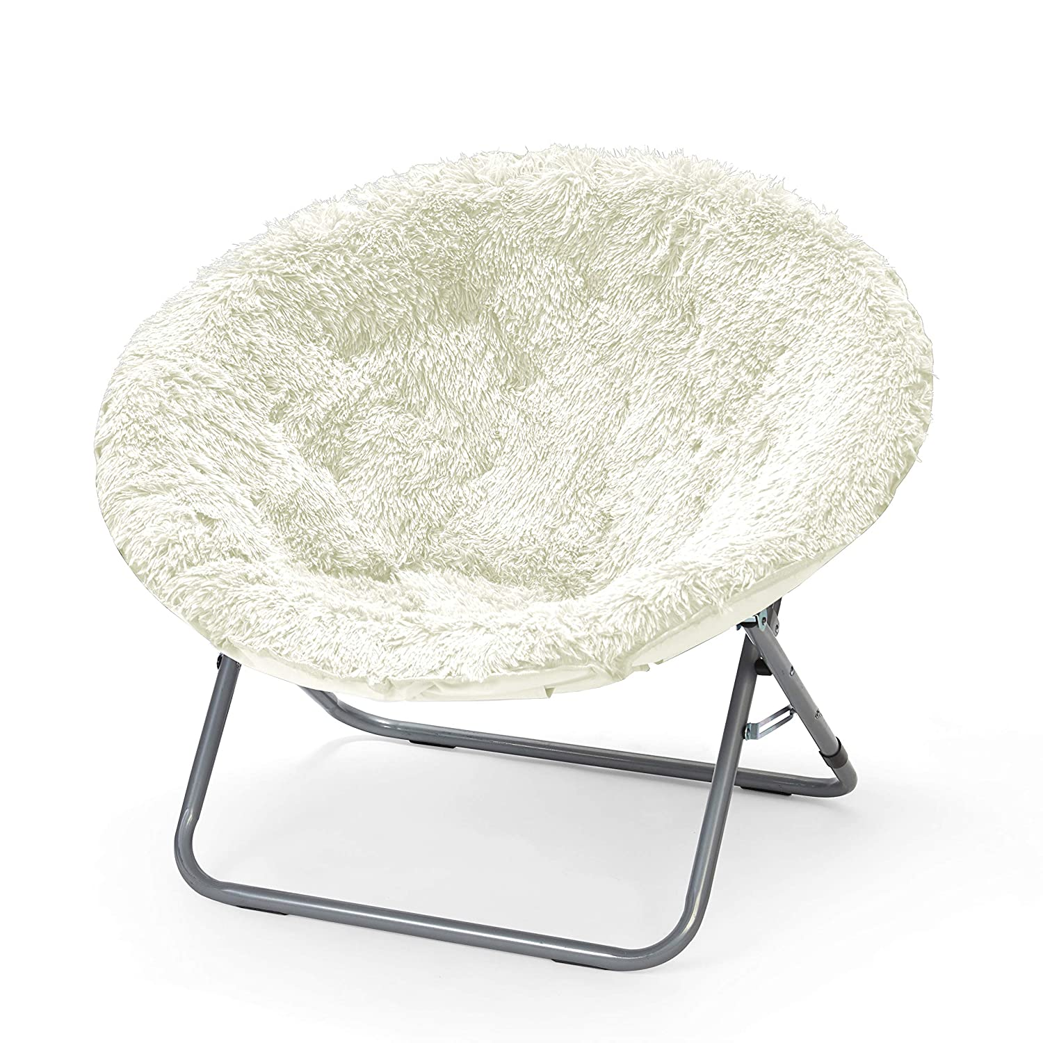 Sensational Folding Chair Soft Wide Seat Mongolian Oversized Moon Chair In White Caraccident5 Cool Chair Designs And Ideas Caraccident5Info