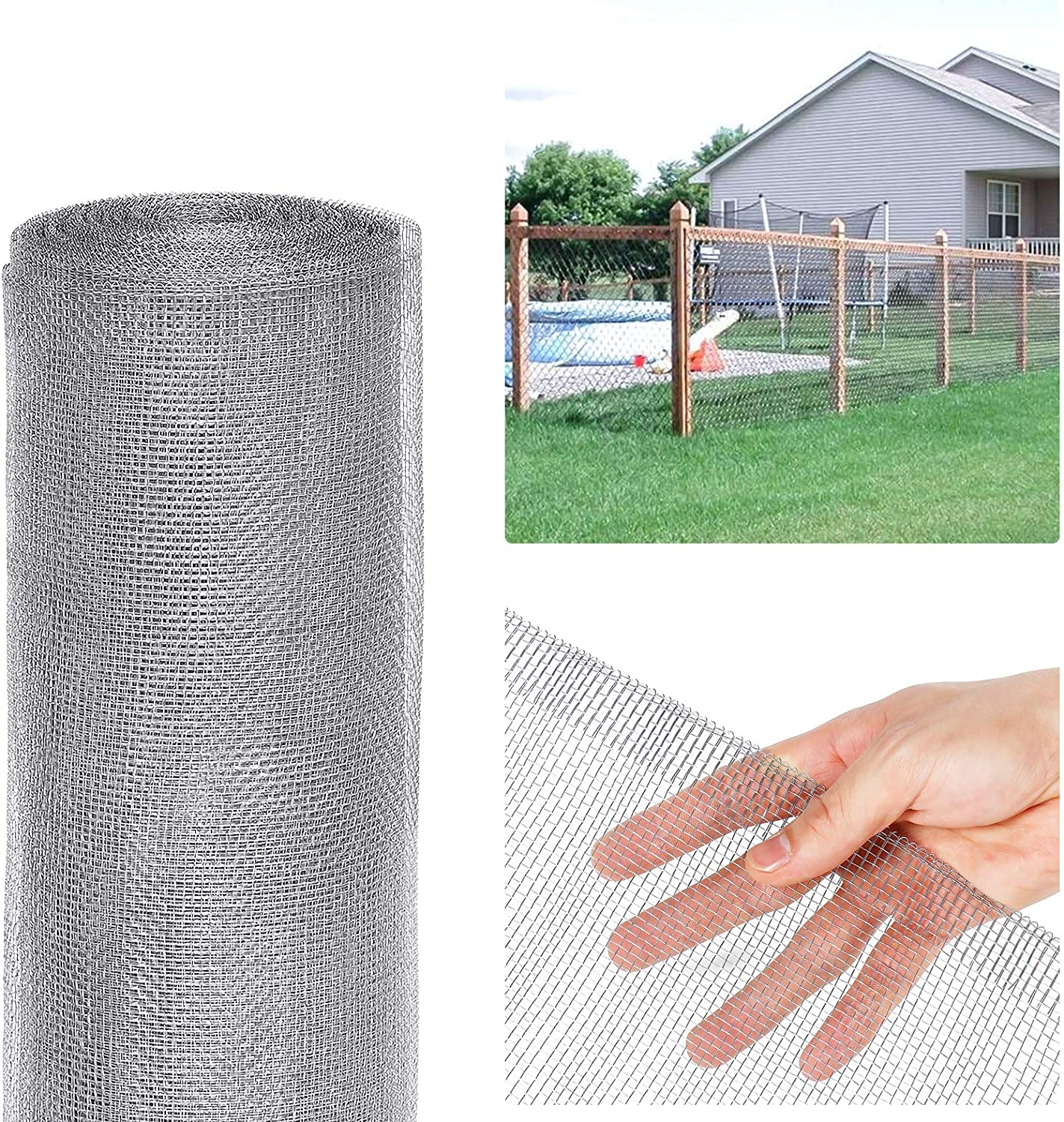 Tooca Hardware Cloth 1/8inch Chicken Wire Mesh, 36in x 50ft, 27 Gauge Hot-Dipped Galvanized Material, Fence Wire Mesh for Chicken Coop/Run/Cage/Pen/Vegetables Garden and Home Improvement Projects