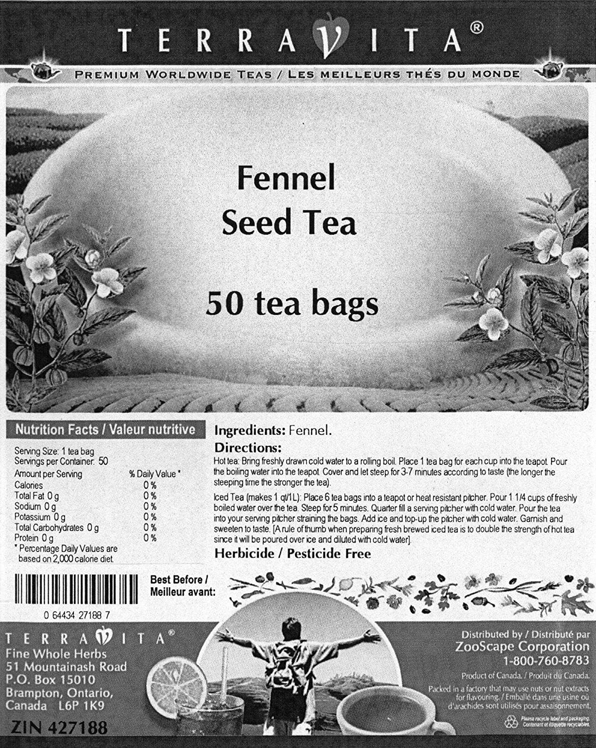 Amazon.com: Fennel Seed Tea (50 Tea Bags, ZIN: 427188): Health & Personal Care
