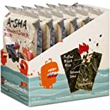 Asha Seaweed Snacks with Puffed Rice, Toasted Almonds, Roasted Sesame Seeds (Spicy, Individual)
