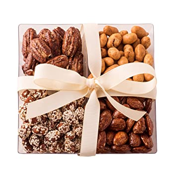 Freshly Roasted Gourmet Nut Assortment Gift Tray 4 Sectional By Chocolate  Decor (Nuts)