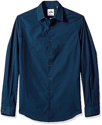 56ca05af0b4 Amazon.com  Ben Sherman Teal Tonic Poplin Slim Fit Men s Dress Shirt ...