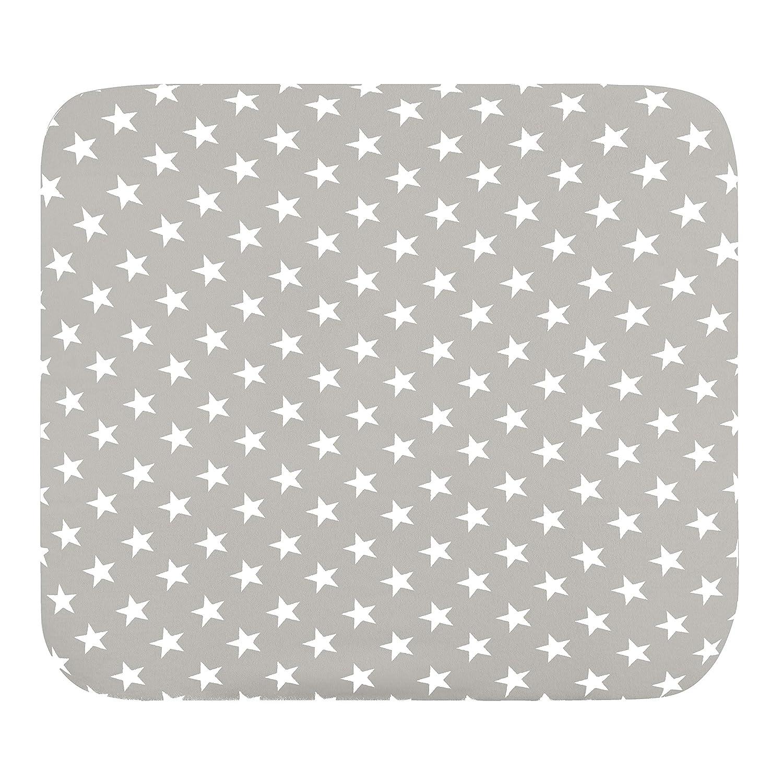 bords sur/élev/és coton /éponge gris-e Housse pour matelas /à langer lot de 2