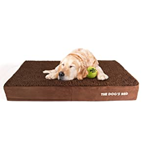 The Dog's Balls Premium Orthopedic Memory Foam Waterproof Dog Bed