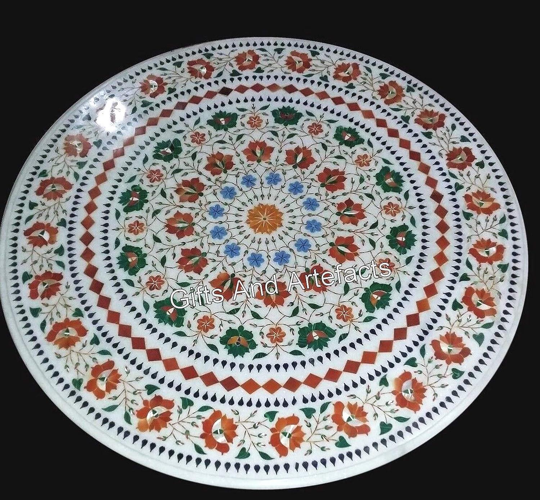 Gifts And Artefacts - Mesa de centro (27 pulgadas, forma octogonal), color blanco