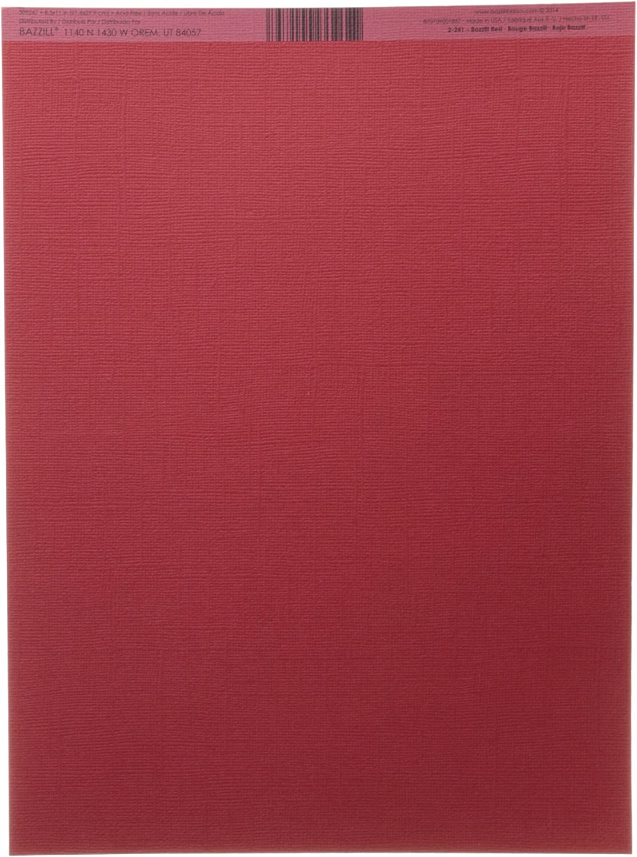 Bazzill Cardstock 8.5X11-Bazzill Red//Classic 25 per Pack