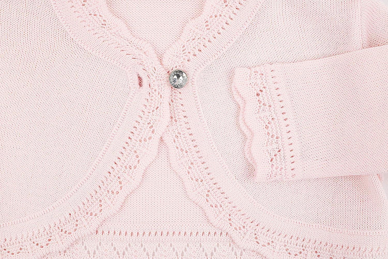 Lilax Baby Girls Knit Long Sleeve Button Closure Bolero Cardigan Shrug