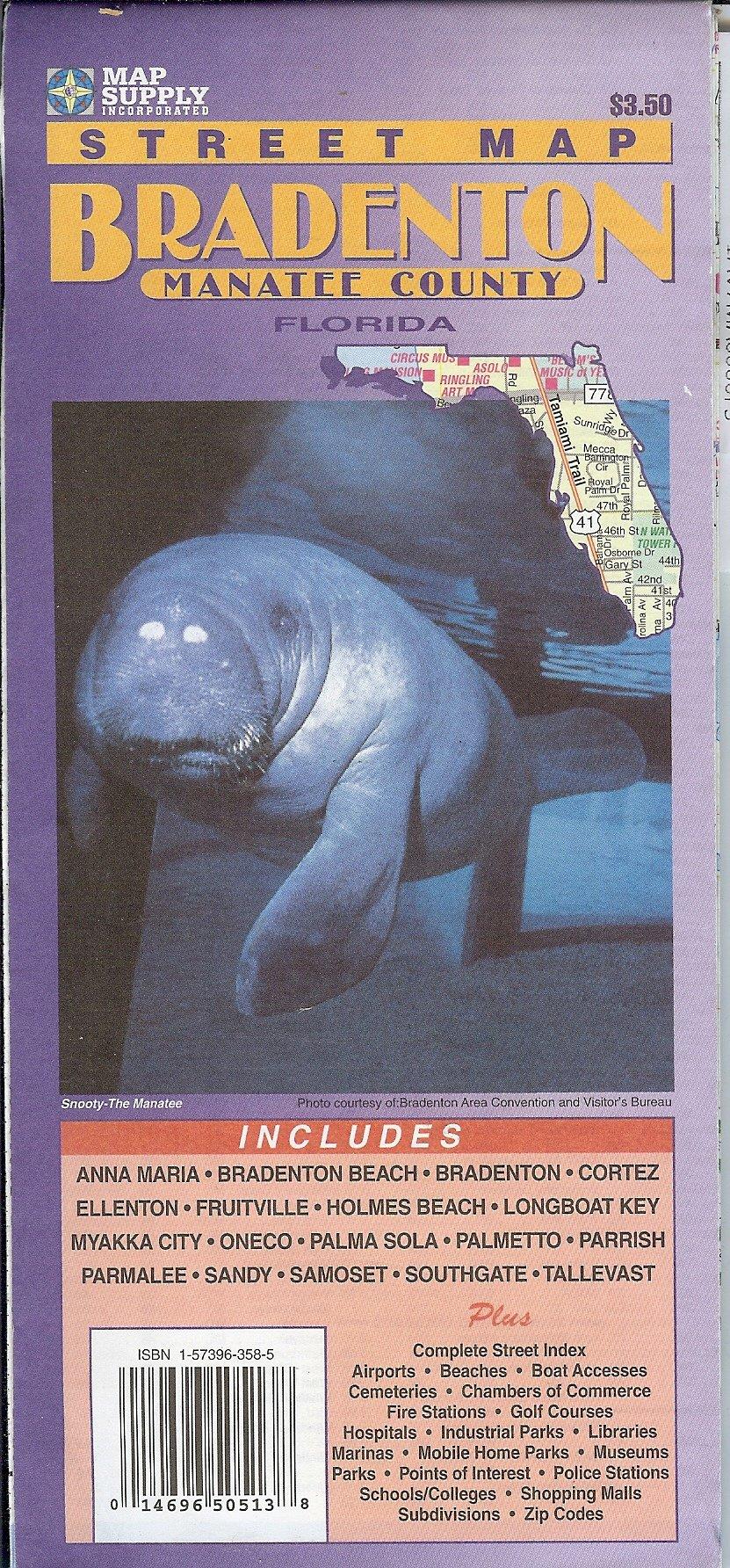 Street Map Bradenton Manatee County Florida Amazon Com Books