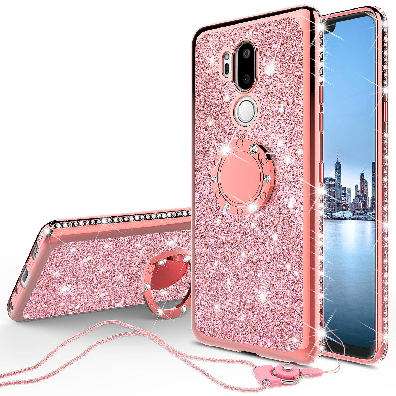 competitive price f3559 9f45c Amazon.com: LG G7 ThinQ Case,LG G7 Case,Glitter Cute Phone Case ...