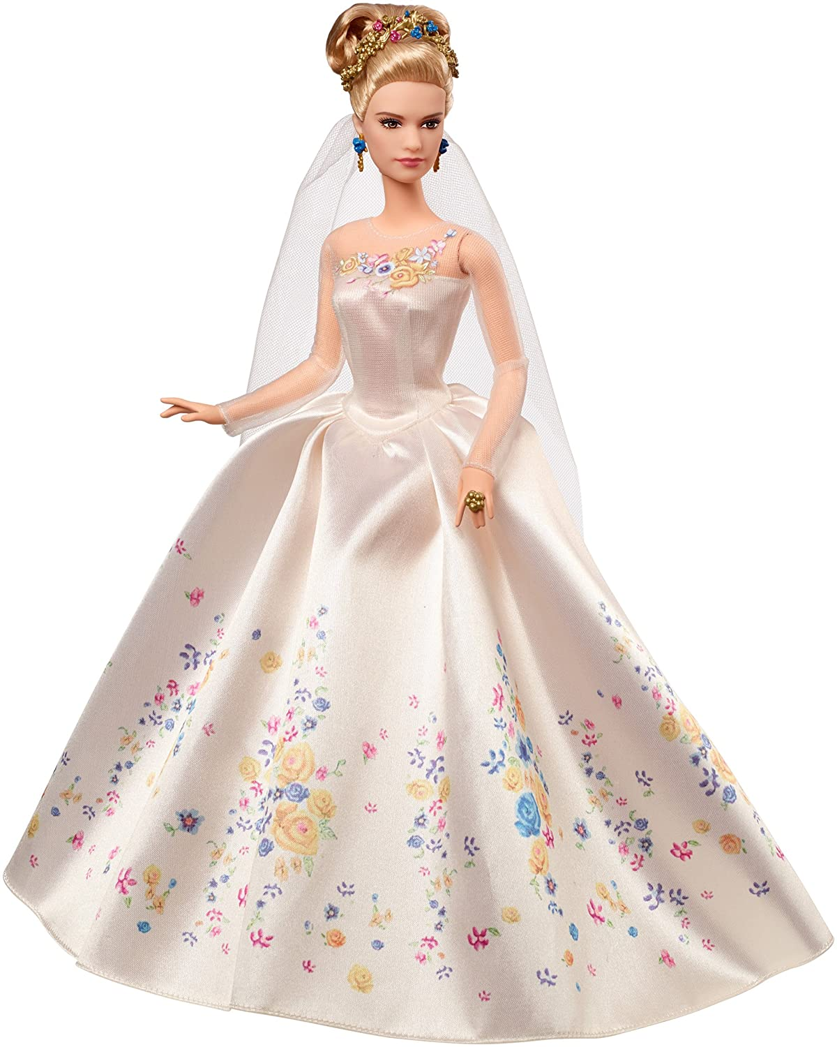 BGA cinderella wedding Amazon com Disney Wedding Day Cinderella Doll Discontinued by manufacturer Toys Games