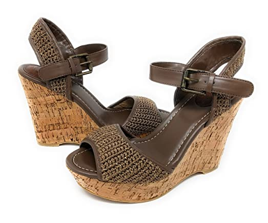 Women's Monterery Meghan Wedge Taupe Sparkle 9 M