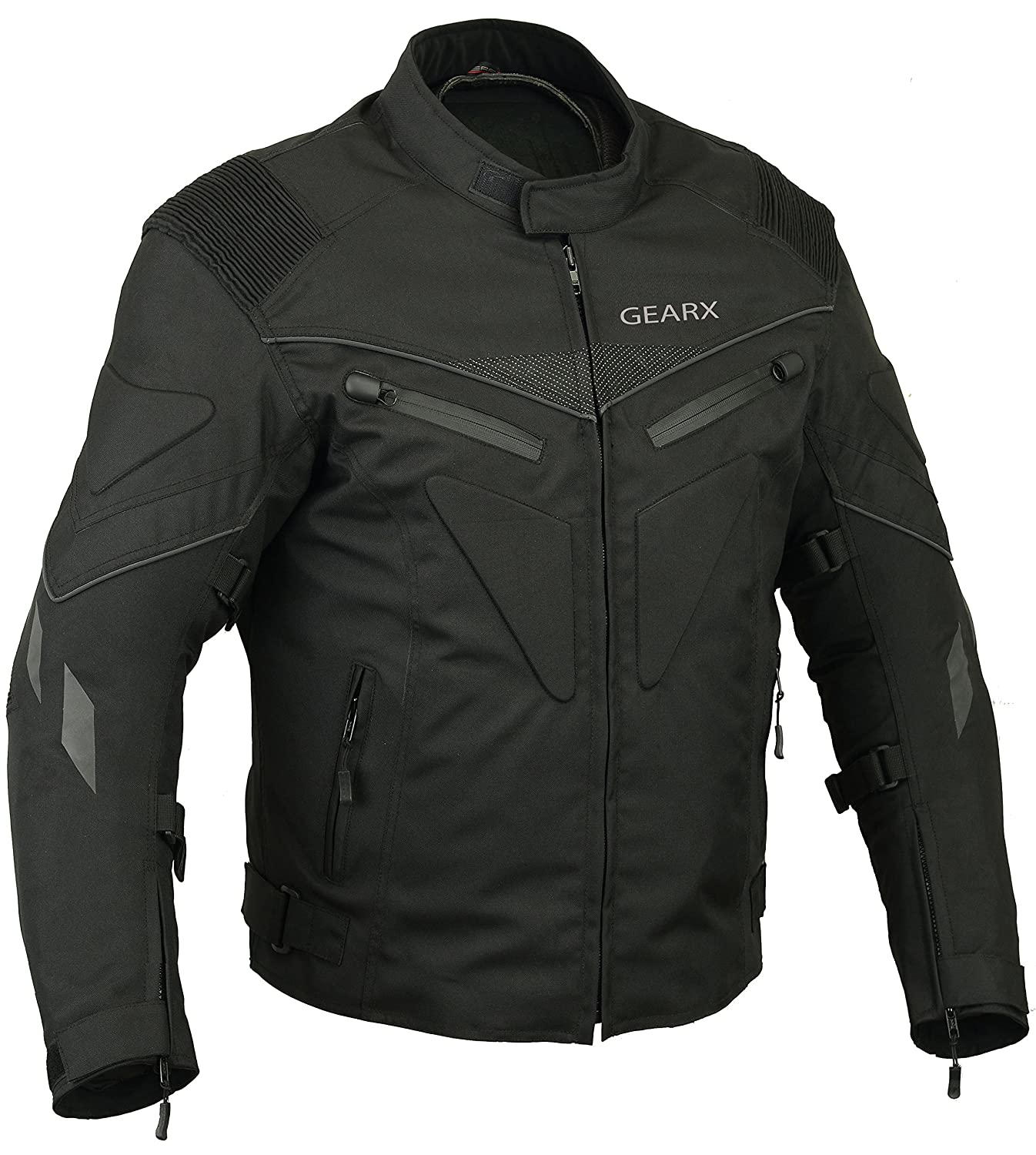 Amazon.com: Spine paded Motorcycle Jacket Waterproof ...