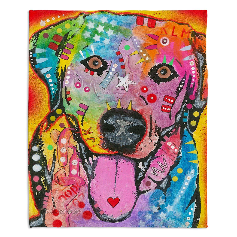 ブランケットウルトラソフトFuzzy 4サイズダイアノウチェデザインズ – Dean Russo Loving Joyラブラドールレトリバー犬ホーム装飾寝室ソファスローブランケット Large 80