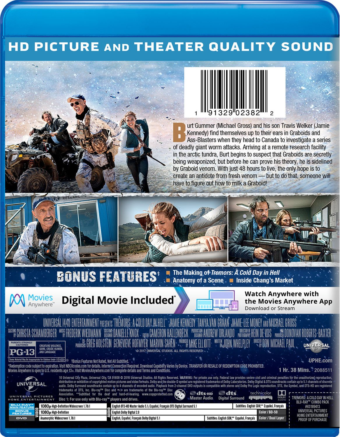 Amazon Tremors A Cold Day In Hell Blu Ray Jamie Kennedy