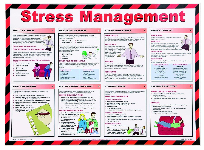 St John Ambulance A2 Poster Stress Management: Amazon.co.uk ...
