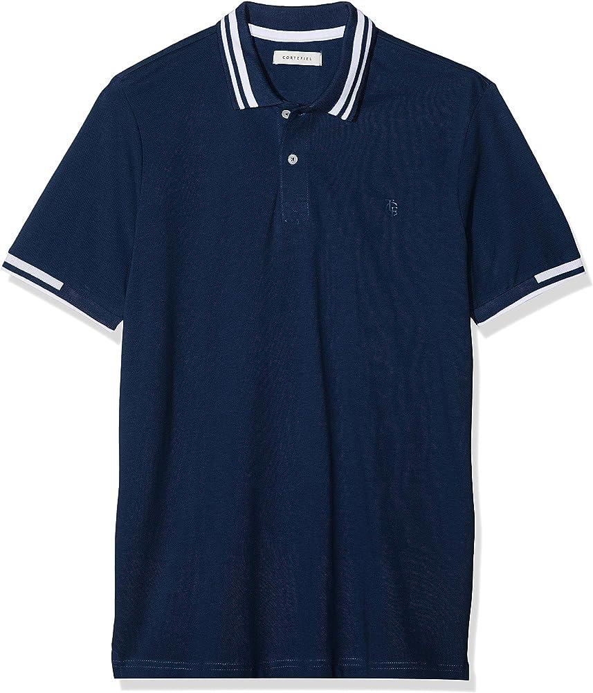 Cortefiel C4Ck Sport Logo Engo Polo, Azul (Azul Marino 10), Small (Tamaño del Fabricante:S) para Hombre: Amazon.es: Ropa y accesorios
