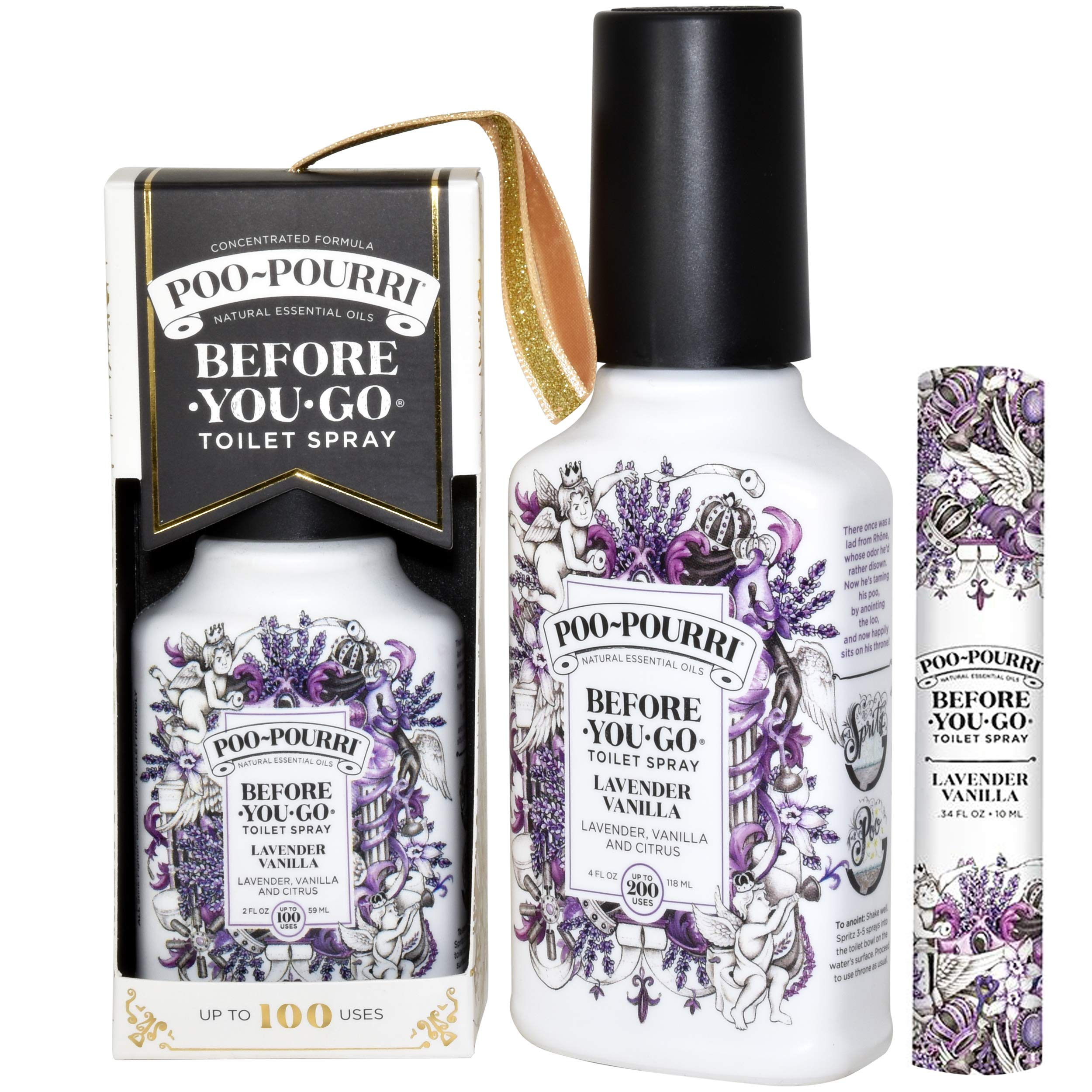 Poo-Pourri Lavender Vanilla 2 Ounce, 4 Ounce, Travel Size Spritzer, and Box by Poo-Pourri (Image #3)