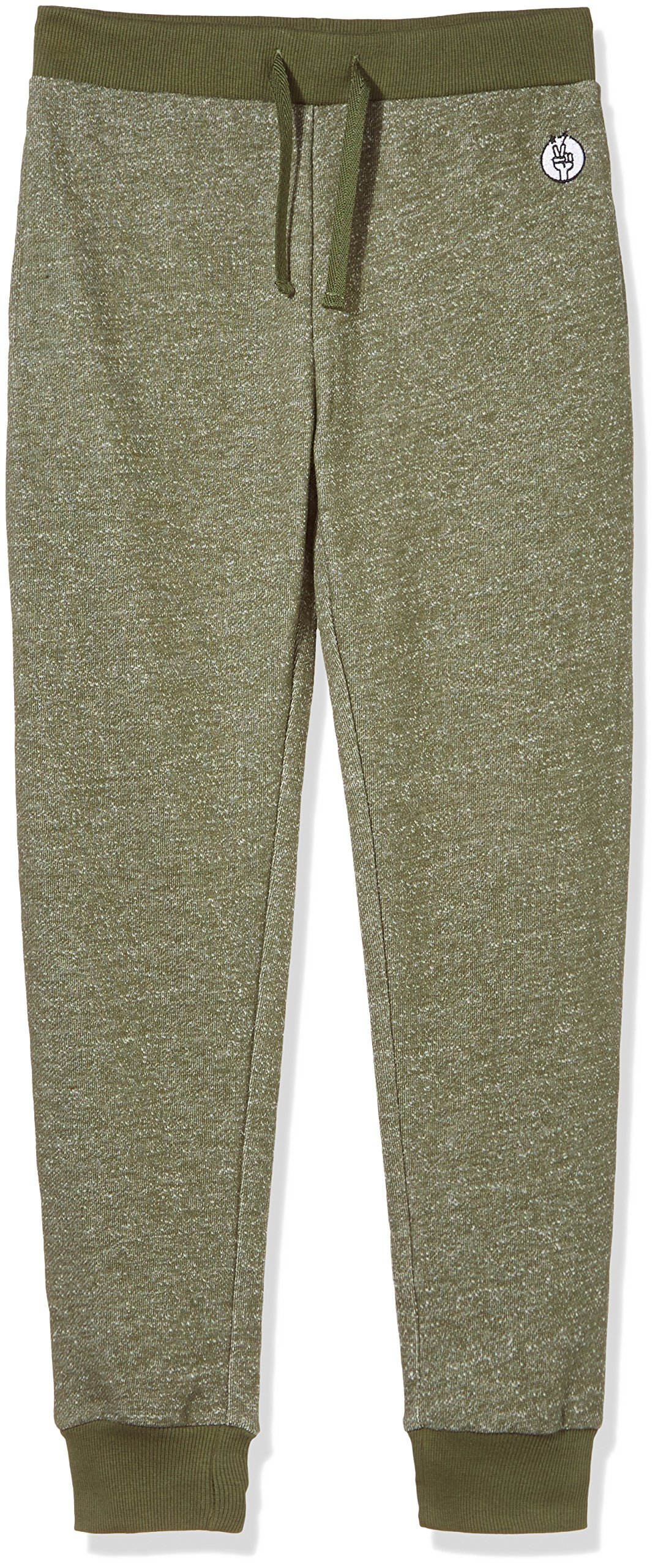 Kid Nation Kids' Solid French Terry Jogger Boys Girls M Olive
