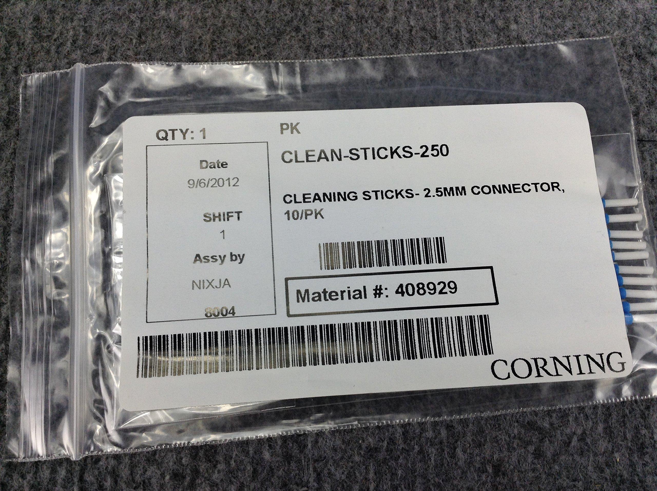 Corning Clean-Sticks-250 Fiber Optic Cleaning Sticks 2.5 Mm 10/Pack (TP)