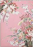 Daycraft Flower Wow - Cuaderno (A5, hojas a rayas), diseño de flores, color rosa