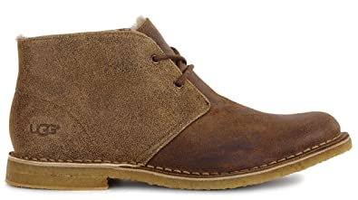 UGG Men's Leighton Bomber Chukka Boot,Bomber Jacket Chestnut,US ...