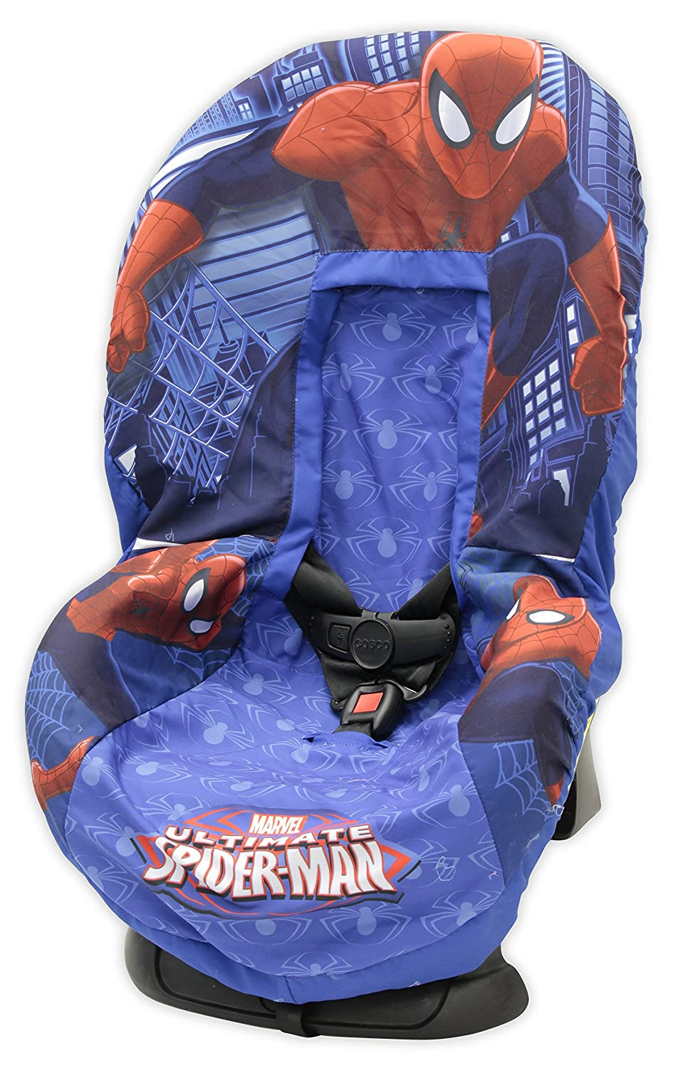 Amazon.com : Marvel Spiderman Car Seat Cover, Blue/Red : Baby