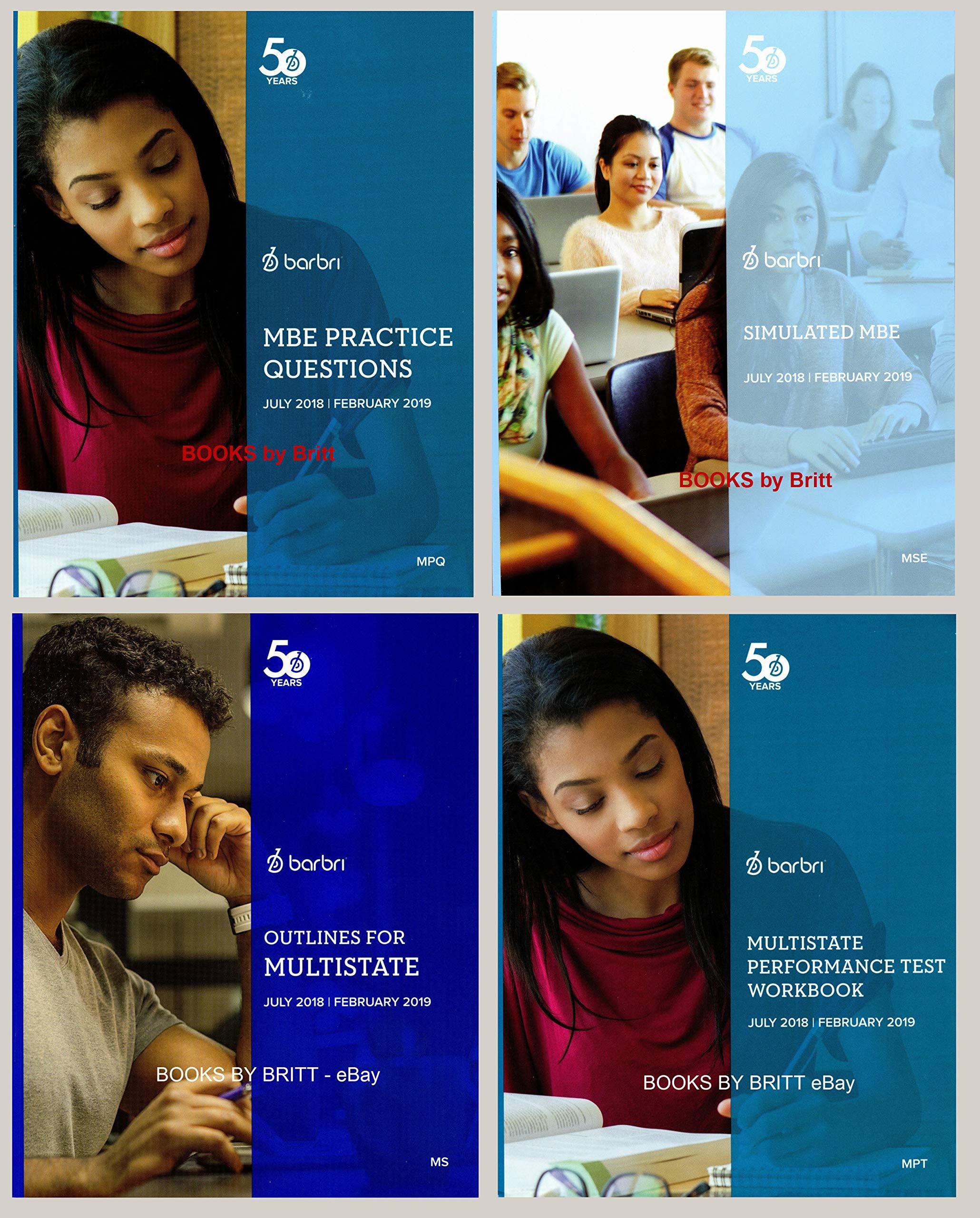 2018-2019 Barbri Bar Exam UBE FULL SET, eight books