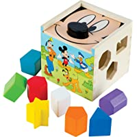Melissa & Doug Mickey Mouse & Friends Wooden Shape Sorting Cube