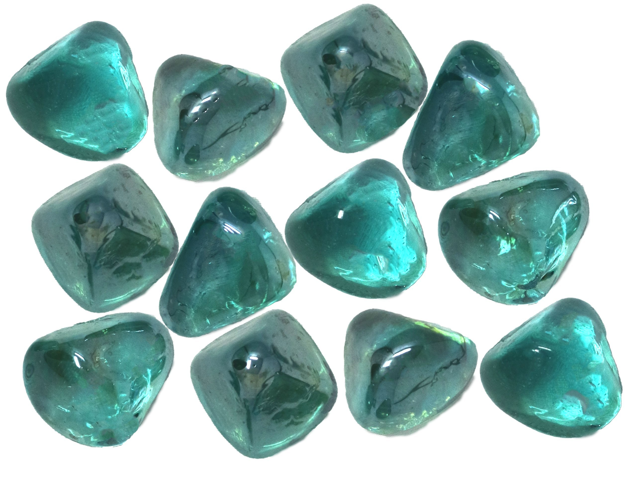 Distinctive Glass Jewel Gems for Vase Filler, Table Scatter or other Beautiful Accents (2.2 Pounds, Teal Blue Green) by Panoramic Decorative Accents