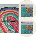 Jelly Roll Rug Kit Bundle, Including Pattern and Two (2) Rolls of Bosal Katahdin Batting On-A-Roll (Standard Version)