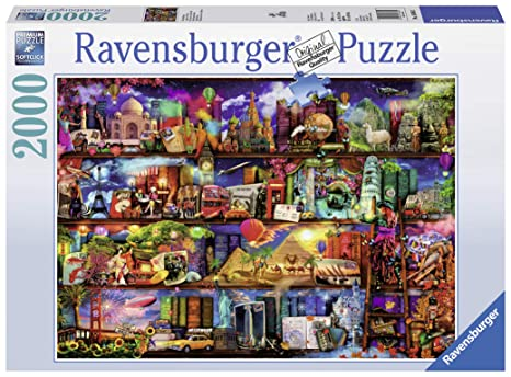 658690a1bb512 Amazon.com  Ravensburger World of Books Puzzle 2000 Piece Jigsaw ...