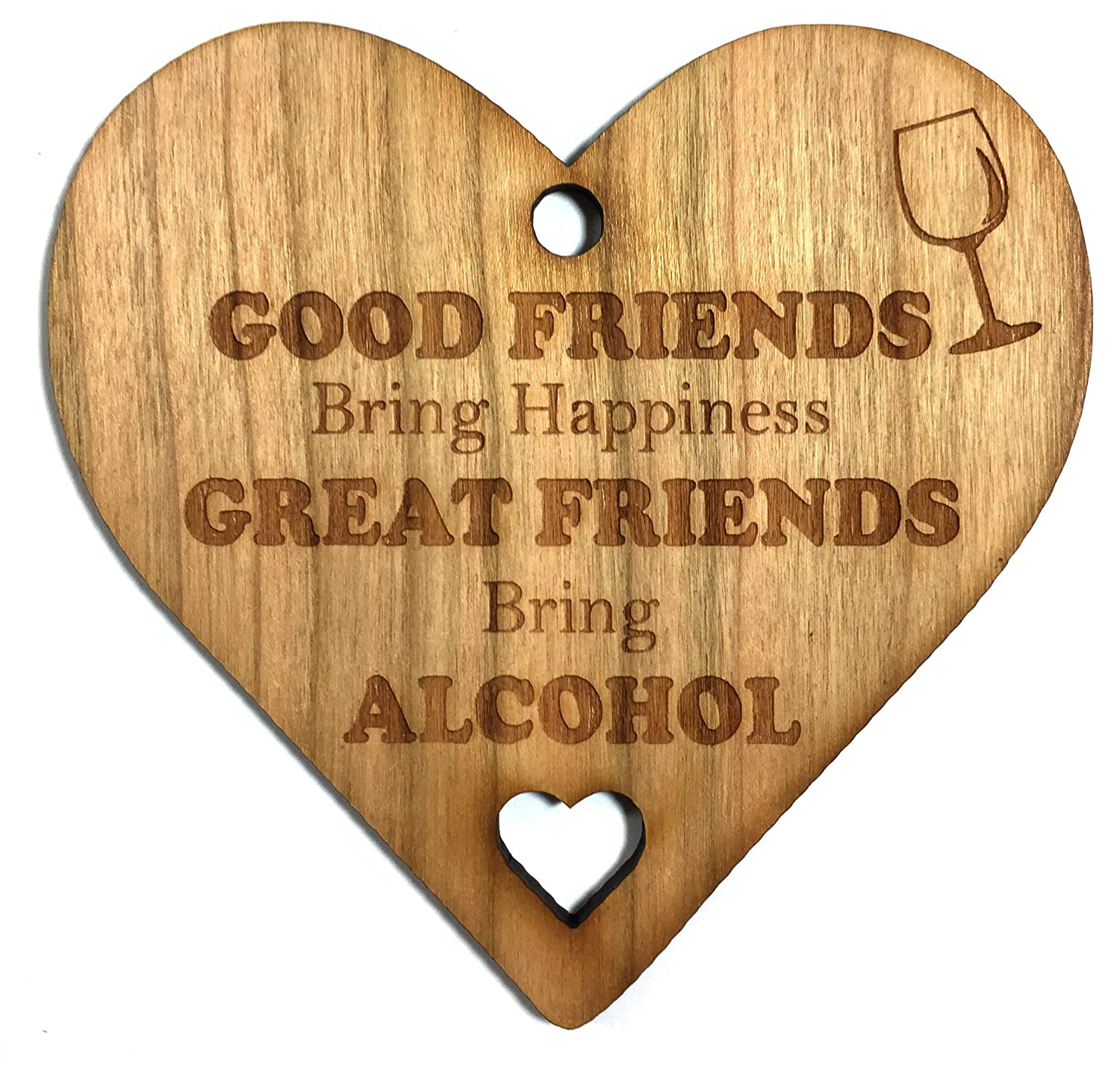Wooden Hanging Plaque Alcohol Bottle Liquor Tag Party Tags for Vodka Gin Rum Tequila Scotch Whisky Whiskey Christmas Gift Box Hamper Set Ideas (wood)