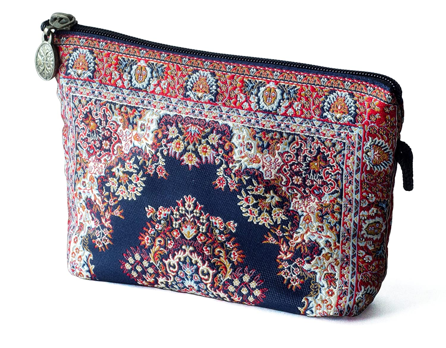 Oriental Carpet Cosmetic Makeup Bag - MASHAD DESIGN COLLECTION