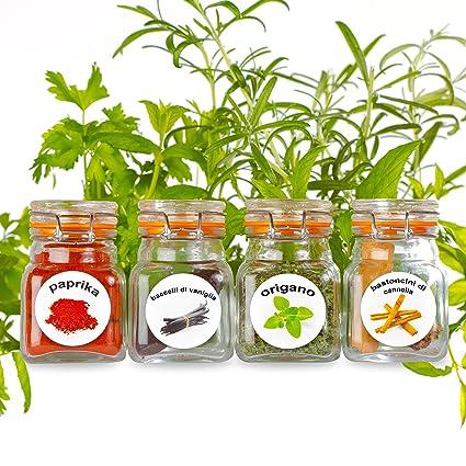 Nuovo - 50 etichette in plastica lavabili per barattoli di erbe e ...