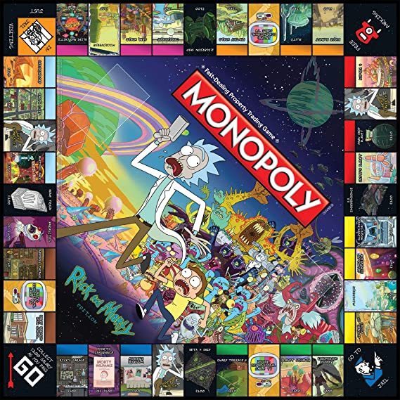 Rick /& Morty Monopoly Board Game