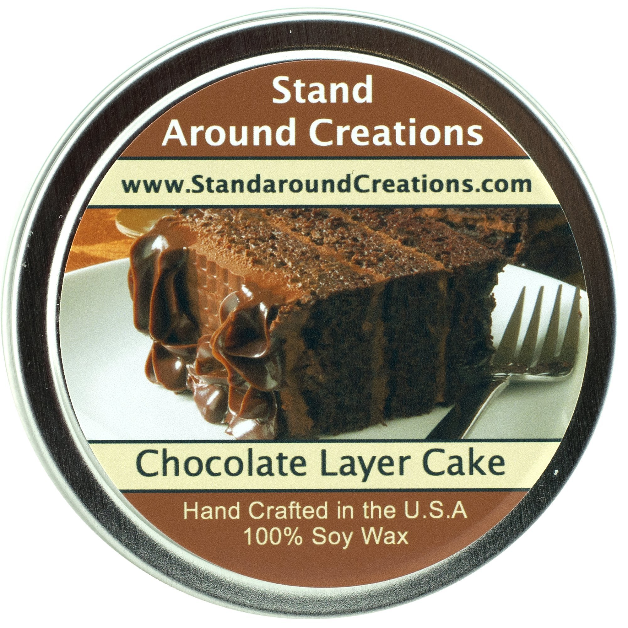 Premium 100 All Natural Soy Wax Aromatherapy Candle 4oz Tin Scent Chocolate Layer Cake A