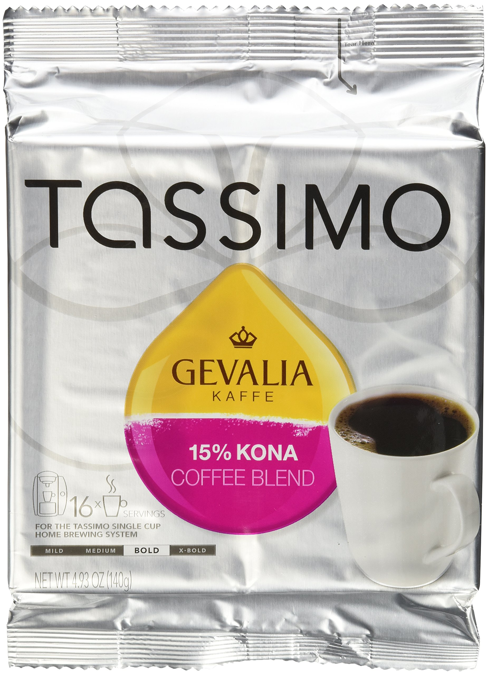 Gevalia Kaffe 15% Kona Blend Coffee, Pack of 3