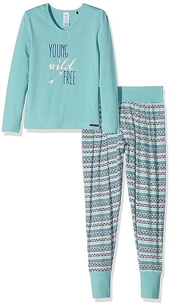 Skiny 036237, Conjuntos de Pijama para Niñas, Multicolor (Arctic), 128