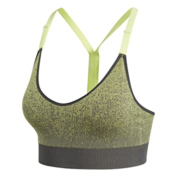 adidas All Me SML Htr Top, Mujer, Gris (Carbon/seamhe),