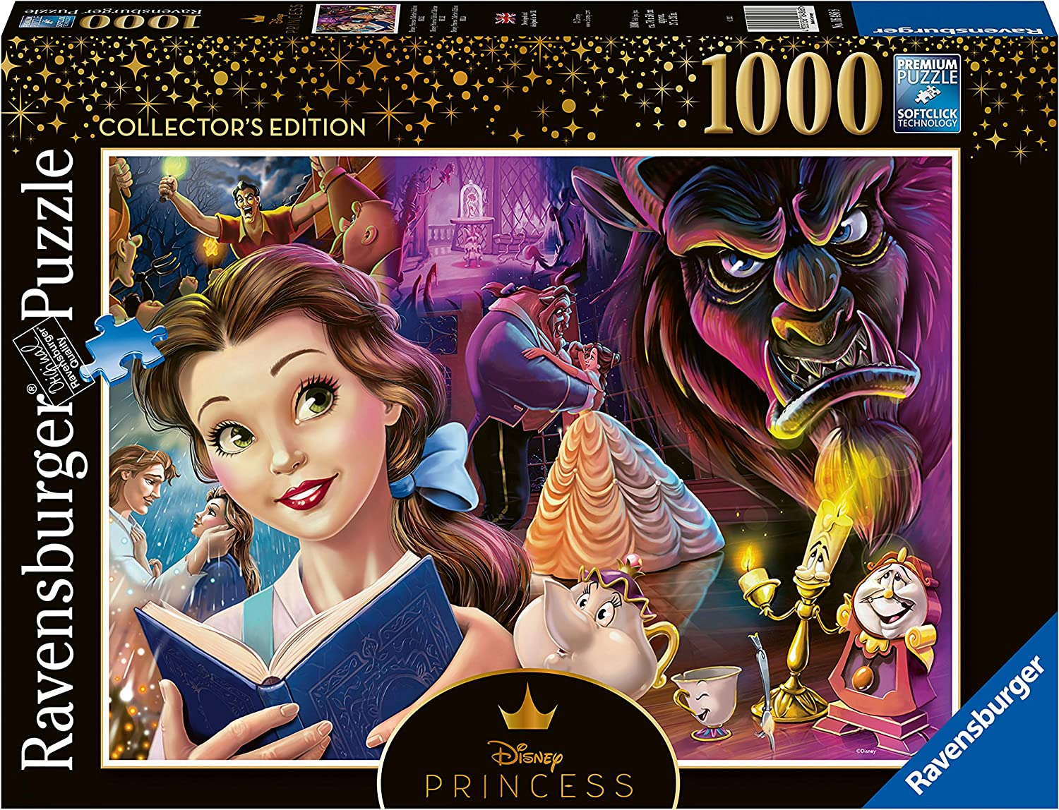Ravensburger 16486 Belle - Heroines Collection - 1000 PC Puzzles for Adults – Every Piece is Unique, Softclick Technology Means Pieces Fit Together Perfectly