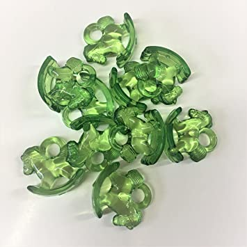 10 x color verde transparente colgante con forma de caballo ...