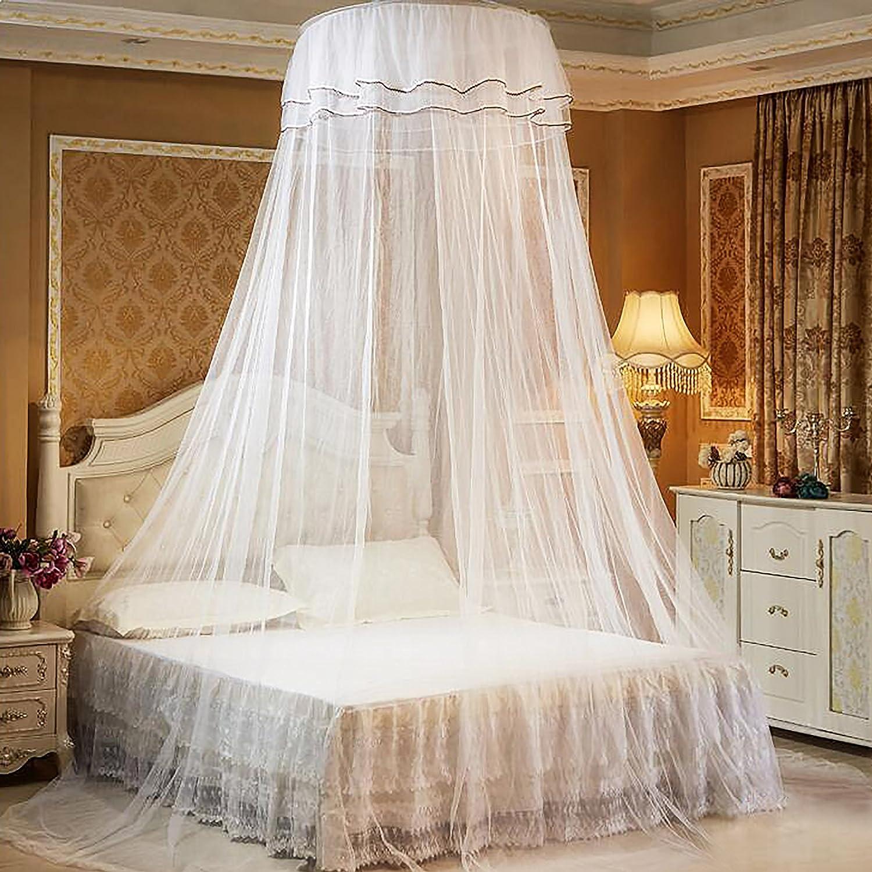 Mosquitera de Cama, Mosquito Nets Importar mariposas luminosas de hilo de cifrado adhesivo con herramienta de instalación para cama doble individual QIMEI-SHOP