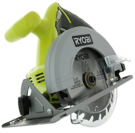 Ryobi p504g one 18 v lithium ion cordless 5 12 inch circular saw ryobi p504g one 18 v lithium ion cordless 5 12 inch circular saw w greentooth Image collections