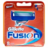 Gillette Fusion Manual Blades - Pack of 8 - Frustration Free Packaging